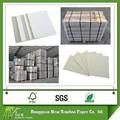 Eco- amigável papel cinza placa da caixa folhas