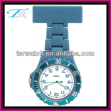 custom logo japan movement plastic nurse hang watch with many colours