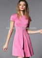 las mujeres falda de verano damas falda de color rosa en general las niñas falda