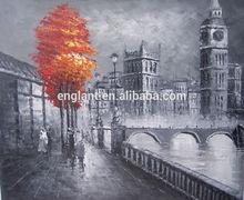 Modern oil painting trees London landscape
