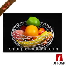 round metal wire fruit basket