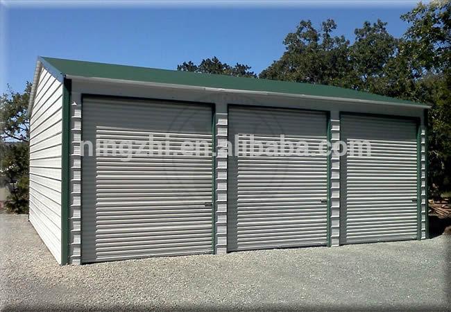 Portable steel garage 3 car garage steel metal garage car Modular 3 car garage