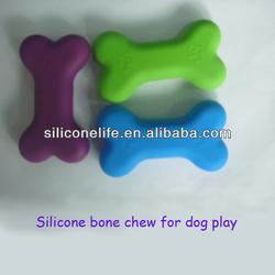 FDA / LFGB food grade dog chew toys silicone bone