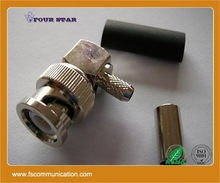 crimp angle bnc male connector to screw terminal For RG58 Cable