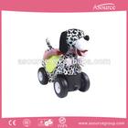 2014 Creative Design Soft Toy Spotty Dog Animal Baby Car Fashion Chrisha Playful Plush Rocking Horse Items AP-RH0058