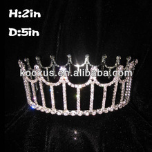 Cheap Full Round Crystal Pageant Crowns