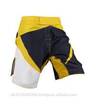 yellow and black MMA Shorts/MMA Fight Gear/Custom MMA Shorts