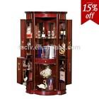Vintage design glass corner cabinet, wooden home bar furniture 816-A#