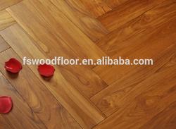 wax oiled massive parquet wood flooring - teak