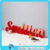 plastic cake topper Chinese acrylic letters and numbers in beautiful color acrylic letter