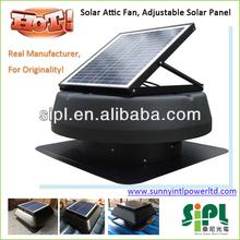 2014 caliente venta! 14 pulgadas aspas del ventilador 20 Watt Solar Panel de energía Motor de corriente continua cepillo acondicionador de aire del ventilador