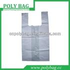 clear biodegradable t-shirt kipl bag for shopping