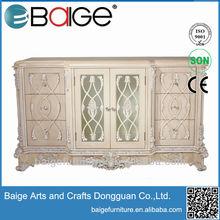 DR5800 Antique Good Quality Hand Carved Glass Display Cabinet Dresser
