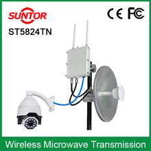 Outdoor long range 2.4g 5.8g digital wireless dual band transceiver AV network RS485