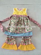 fantezi rahat çocuklar yaz giyim setleri butik renk eşleme tığ işi bebek giysileri