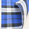 China manufacturer shirting blue and white CvC check fabric