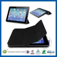 C&T Smart phone leather case for ipad air with sleep wake