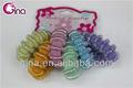 6 piezas brillantes multicolores banda elástica de pelo para niña