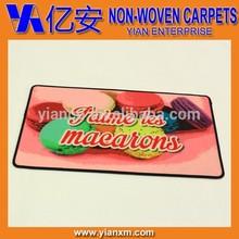 Printed non-woven pvc backing polyester carpet, polyester rug, polyester mat