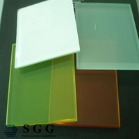 High quality clear ceramic fritted laminated glass