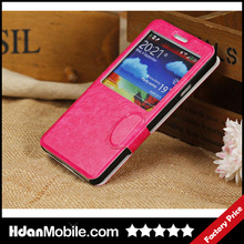 Hdan Window Screen Leather Cell Phone Cover for Samsung Galaxy Note 3 N9000