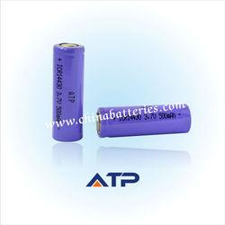 Cheap flat top 14430 3.7v 500mah Li-ion battery / 14430 rechargeable battery