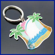 Wholesale palm tree metal logo keyring
