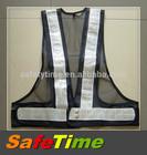 black high visibility reflective safety vest
