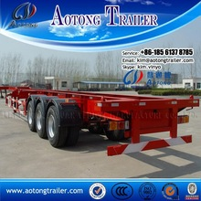skeleton container transport truck trailer chassis