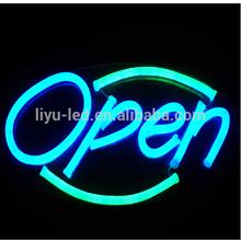 outdoor+indoor DIY design 12v custom neon sign for shop open & decoration