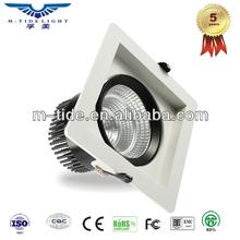 Square shape sharpe LED 90lm/W 20w cob led downlight