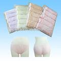 Cor diferente elástico descartável 100% meninas algodão calcinhas de algodão