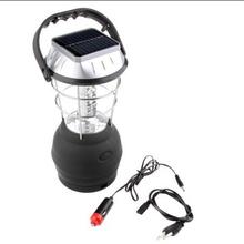 36 LED solar power camping lantern with hand crank