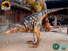 Life size animated walking dinosaur suit