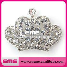 Crown Elegant High-end Shiny Upscale Places Decorative Mini Crystal Rhinestone Buckle