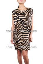 Lastest designs short sheeve ladies causel dress turkish evening dresses