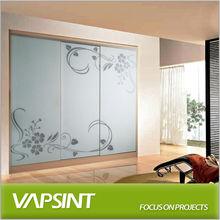 American smooth glass door wardrobe