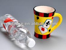 decorative ceramic playing cards coffee mug