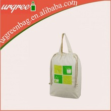 Cheap Wholesale Blank Cotton Tote Bags Foldable Reusable Shopping Bag With Rope Handle