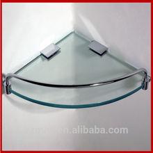 bathroom corner glass shelf shampoo holder soap dish holder