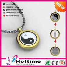 Power Disc Magnetic Stainless Steel Dog Tags Necklace