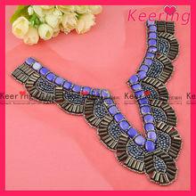 wholesale fancy handmade beaded applique garments neckline designs of kurtis WNL-1231