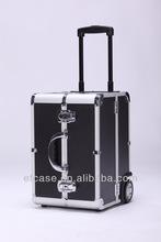 2014 hot sale,useful, professional Aluminum cosmetic trolley case,beauty case,makeup case