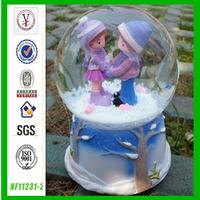 factory custom OEM/ODM resin gift human snow globe