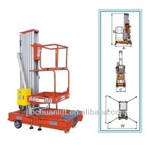 hydraulic single post lift/mobile single person hydraulic lifts