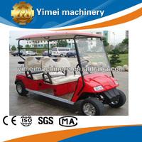 Cheap 4 seater red gas golf cart
