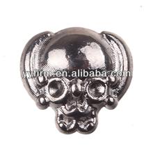 Hot sale 8.4*8mm skull shape 3D nail sticker 100pcs lot