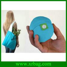 Foldable ball shape shopping nylon bag
