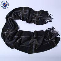 Italian cashmere scarf Grey Color Men's Business Party SWC756 Checked Cashmere Scarf cashmere scarf for men