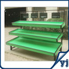 Green Iron 3 tiers single sided fruit vegetable display rack